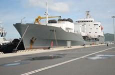 Russian Naval ships anchored at Cam Ranh port, begin Vietnam visit