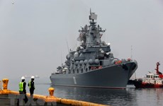 Russian naval ships visit Philippines