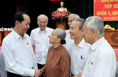President Tran Dai Quang meets with voters in HCM City