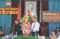 An Giang leaders congratulate Hoa Hao Buddhism founding anniversary