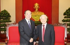 Party chief welcomes delegation from Communist Party of China
