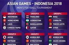 Vietnam Olympic team to face Japan in Asian Games