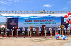 Work on 5 trillion VND solar power plant starts in Ninh Thuan