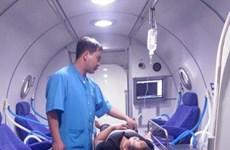 Underwater medicine, hyperbaric oxygen association set up