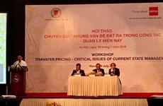 Workshop on transfer pricing held in Hanoi