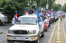 Cambodia holds armed forces display ahead of election