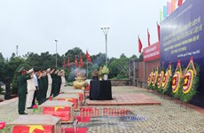 Remains of Vietnamese voluntary soldiers in Cambodia buried