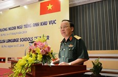 Military English language training conference opens in Hanoi