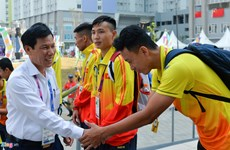ASIAD 2018: Minister visits Vietnamese delegation in athletes' village