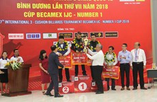 Vietnamese cueist wins title at Becamex IJC Cup 2018