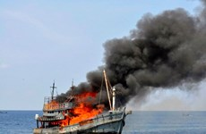 Indonesia sinks over 100 illegal foreign fishing vessels