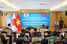 Vietnamese, Japanese sappers share peacekeeping experience