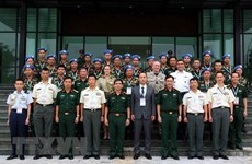 Vietnam, Japan exchange expertise in peacekeeping mission