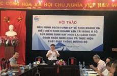 Experts discuss draft decree on auto transportation business