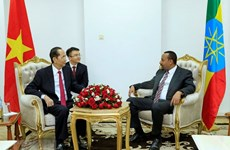President meets with Ethiopian Prime Minister
