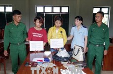 Women arrested for trafficking drug through Vietnam-Laos border gate