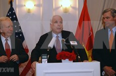 US Embassy opens condolence book for late Senator McCain