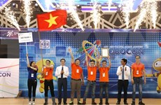 Vietnamese team triumphs at 2018 ABU Robocon contest