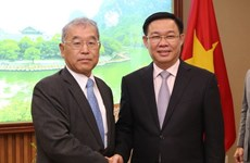 Deputy PM receives Mitsubishi Corp.'s executive vice president