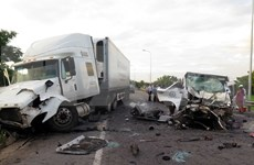 Traffic accidents reduce in first two quarters