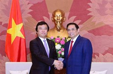 Party official hosts Japanese Minister of State for Ocean Policy