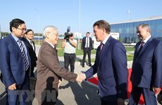 Party leader stresses Vietnam-Russia economic ties in Kaluga Oblast tour