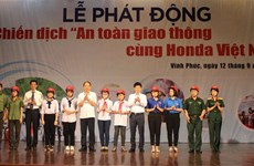 Traffic safety campaign launched in Vinh Phuc province