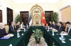 Vietnam, Estonia eye stronger bilateral ties