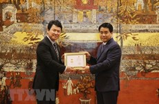 Japanese deputy ambassador honoured with Hanoi's insignia