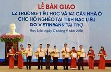 Bac Lieu: Schools, housing donated to disadvantaged families