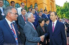 President Tran Dai Quang welcomes heads of delegations to ASOSAI 14