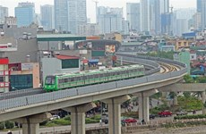 Cat Linh-Ha Dong elevated railway starts trial run