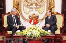 Deputy PM hosts Singaporean counterpart in Hanoi