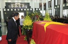International friends share grief over President Quang's death