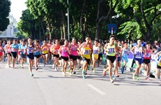 Luat of Border Guards team wins Hanoi Moi race