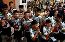 Thai boys' football team, coach will travel abroad to thank world for cave rescue support