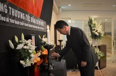 Foreign friends pay homage to former Party chief Do Muoi