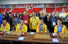 Vietnam's teams tie with strong rivals at Chess Olympiad in Georgia