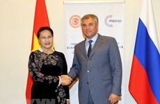 Top Vietnamese legislator meets Chairman of Russia's State Duma