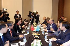 Top legislator meets Kazakh lower house chairman in Turkey