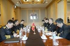 Naval commander holds bilateral meetings on sidelines of WPNS