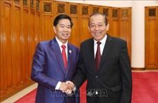 Deputy PM Truong Hoa Binh welcomes Vientiane Mayor