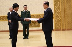 New ambassador to DPRK presents letter of credence