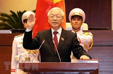 Party leader's election as President covered abroad