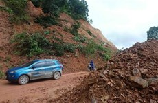 Roads in Cao Bang damaged by heavy rains, floods