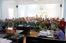 Prison sentences pronounced on rioters in Binh Thuan