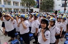 Helmets presented to improve children's road sense