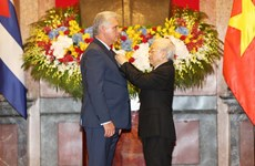 Cuban leader Miguel Diaz-Canel concludes Vietnam visit