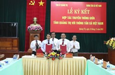 VNA, Quang Tri province ink communication cooperation deal