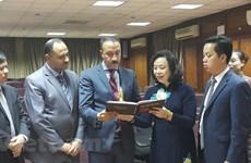Hanoi delegation on Egypt visit